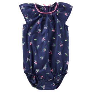 Baby Girl OshKosh B'gosh® Floral Poplin Bodysuit
