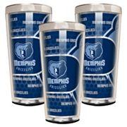Memphis Grizzlies 3 pc Shot Glass Set