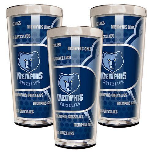 Memphis Grizzlies 3-Piece Shot Glass Set