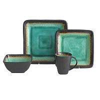 Baum Max Jade 16 pc Square Dinnerware Set