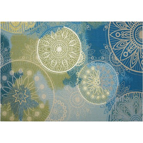 Nourison Home & Garden Planet Medallion Indoor Outdoor Rug