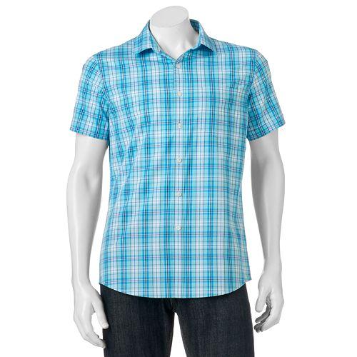 Big & Tall Apt. 9® Slim-Fit Patterned Stretch Button-Down Shirt