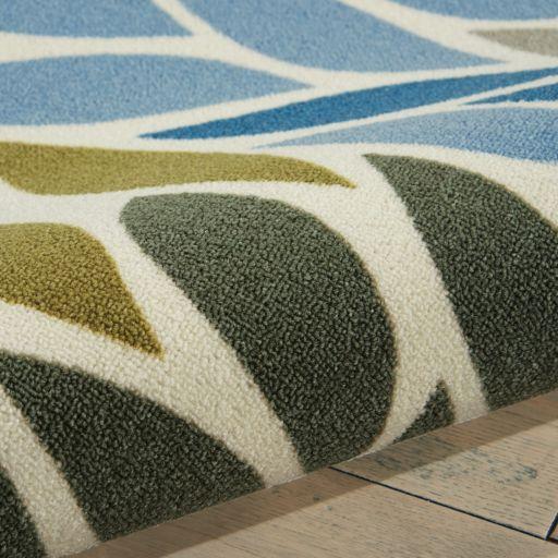 Nourison Home & Garden Leaves Geometric Indoor Outdoor Rug