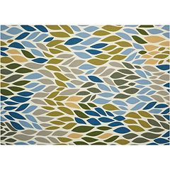 Nourison Home & Garden Leaves Geometric Indoor Outdoor Rug