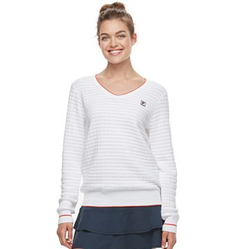 Women's FILA SPORT® Textured V-Neck Sweater