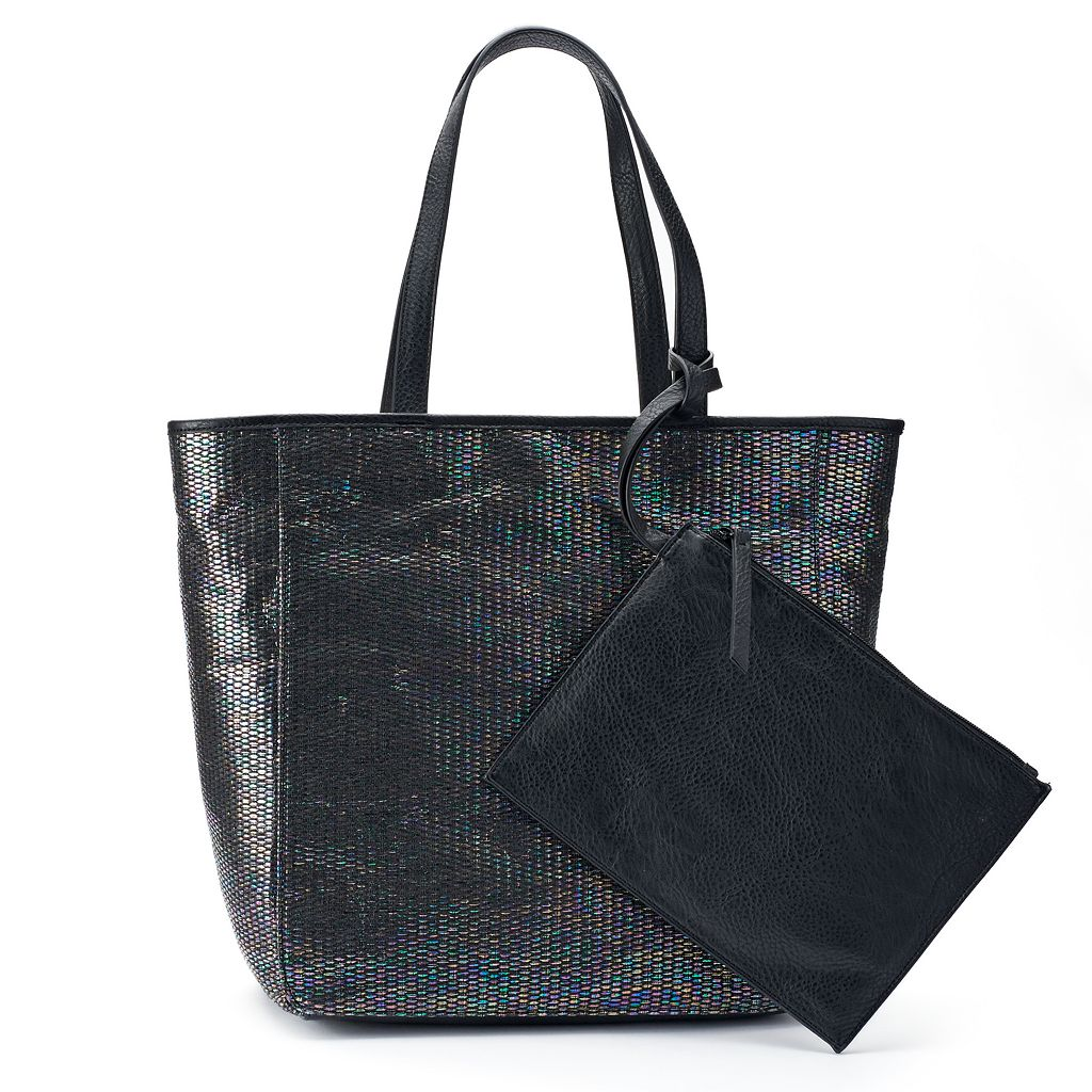 Juicy Couture Right Now Straw Tote with Pouch