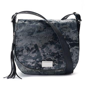 Juicy Couture Rosa Denim Flap Saddle Bag