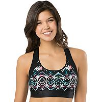 Juniors' SO® Bras: Color Block Racerback Sports Bra