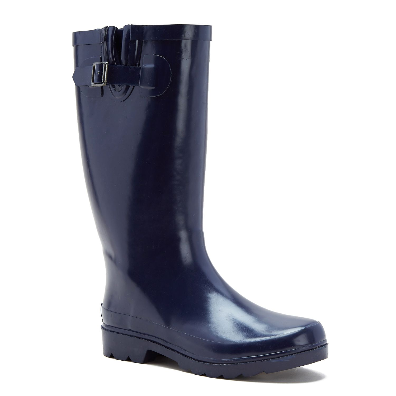 Black Rain Boots With Red Zipper - Boot Hto