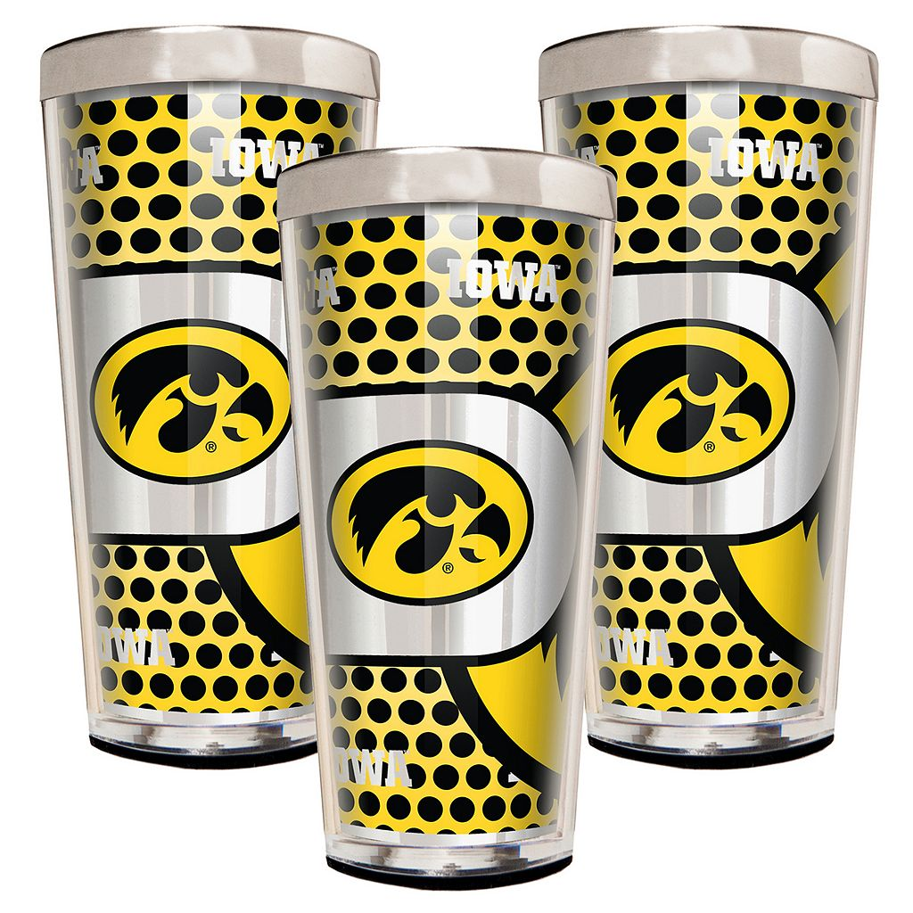 Iowa Hawkeyes 3-Piece Shot Glass Set