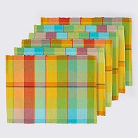 Celebrate Summer Together Plaid Placemat 6-pk.