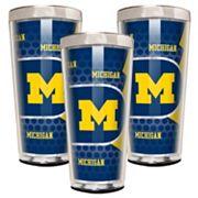 Michigan Wolverines 3 pc Shot Glass Set