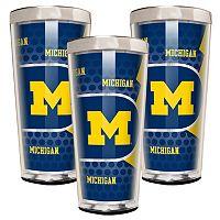 Michigan Wolverines 3-Piece Shot Glass Set
