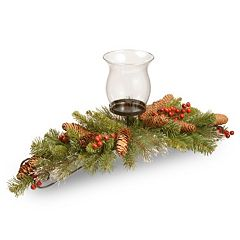 National Tree Company 30 in. Artificial Crestwood Spruce Centerpiece and Candle Holder