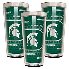 Michigan State Spartans 3 pc Shot Glass Set