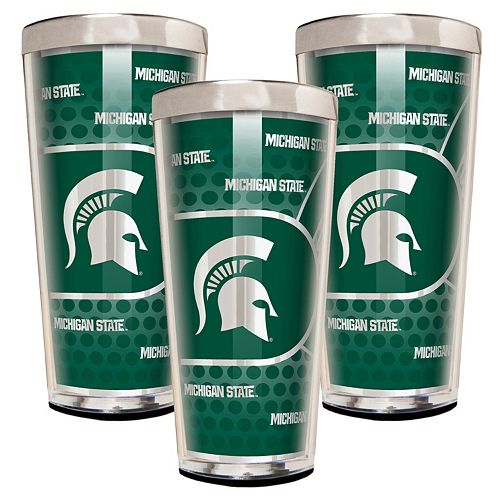 Michigan State Spartans 3-Piece Shot Glass Set