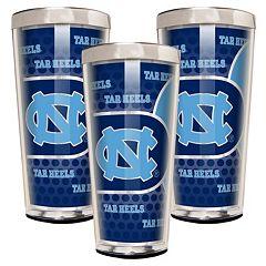 North Carolina Tar Heels 3-Piece Shot Glass Set