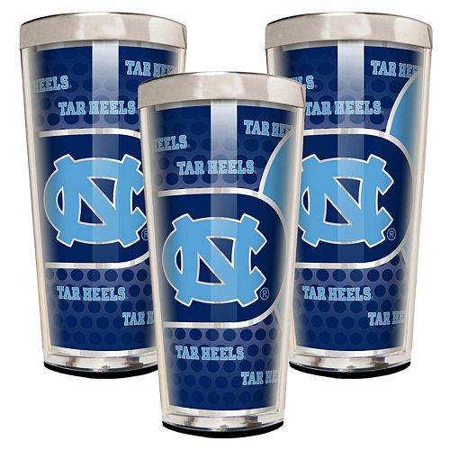 North Carolina Tar Heels 3-Piece Shot Glass Set