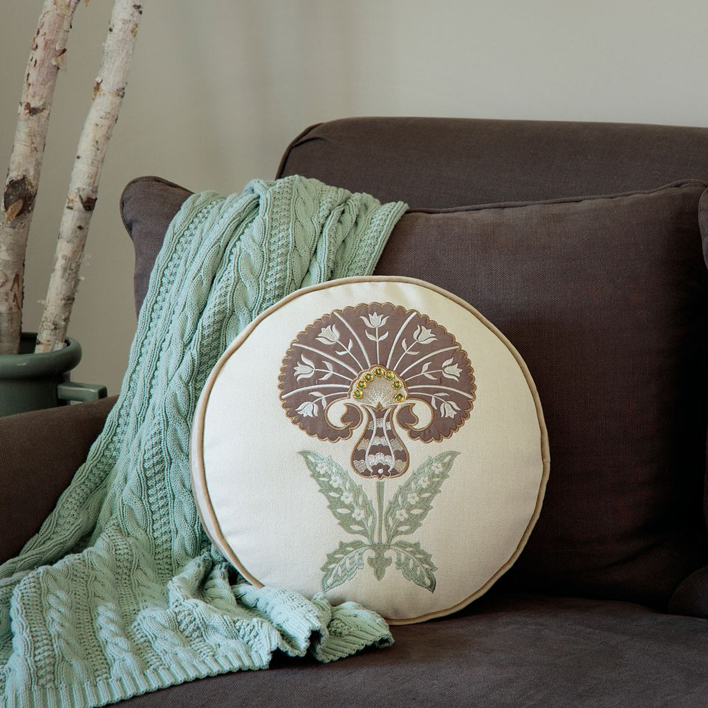 Bombay® Sultan Carnation Round Throw Pillow