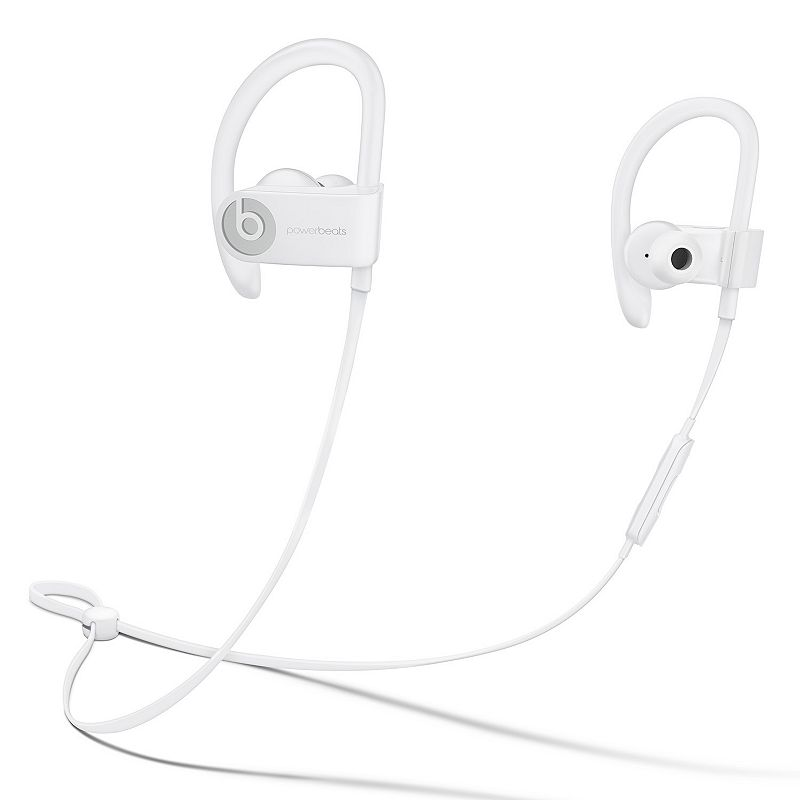 Powerbeats Wireless Earphones are ready for any challenge with their powerful, dynamic sound to keep you pushing through your day. Watch the product video here. POWERBEATS FEATURES Powered for the long haul with the efficiency of the Apple W1 chip and up to 12 hours of battery life Optimized design for improved comfort and immersive sound Fast Fuel offers a quick 5-minute charge to generate enough power for a typical hour-long workout RemoteTalk lets you take calls with a built-in mic, play music and adjust volume Sweat and water resistance provides the necessary durability for strenuous workouts and weather Clear, dynamic sound powered by dual-driver acoustics Flexible, secure-fit ear hooks maximize comfort and stability WHAT\\\'S INCLUDED Powerbeats earphones 4 pairs of ear tips (multiple sizes) Carrying case USB charging cable POWERBEATS DETAILS Battery life: up to 12 hours Bluetooth Manufacturer\\\'s 1-year limited warrantyFor warranty information please click hereFor information about the modified return policy, please click here Model no. ML8V2LL/A Size: One Size. Color: White. Gender: unisex. Age Group: adult.