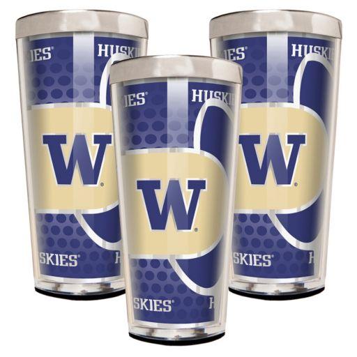 Washington Huskies 3-Piece Shot Glass Set