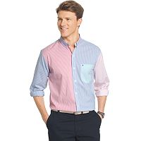 Men's IZOD Classic-Fit Striped Stretch Button-Down Shirt