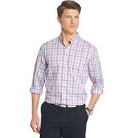 Men's IZOD Classic-Fit Plaid Stretch Button-Down Shirt