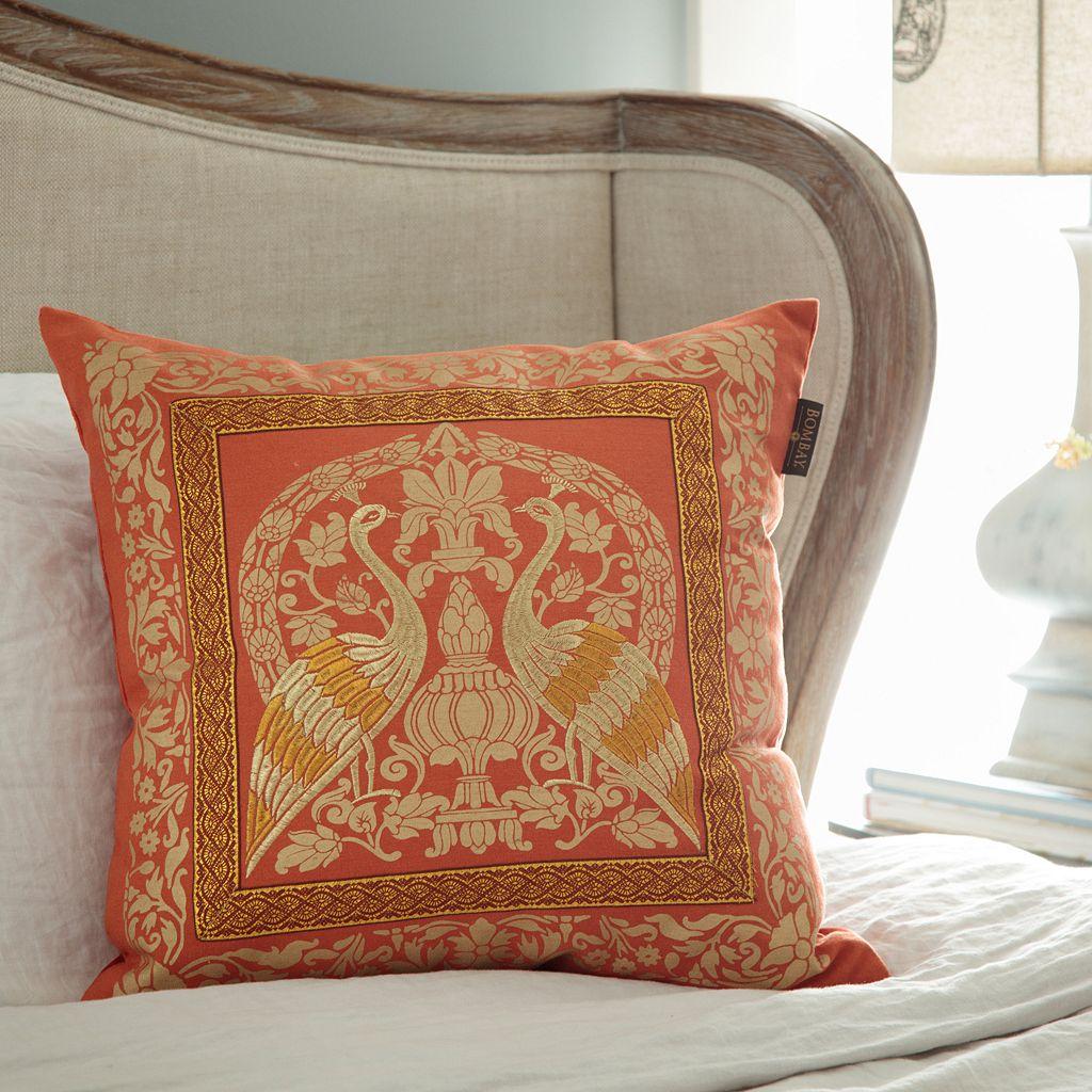 Bombay® Crane Sari Throw Pillow