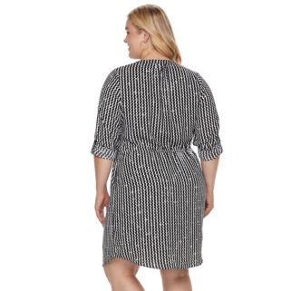 Plus Size Apt. 9® Crepe Shirt Dress