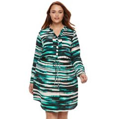Plus Size Apt. 9® Crepe Shirt Dress