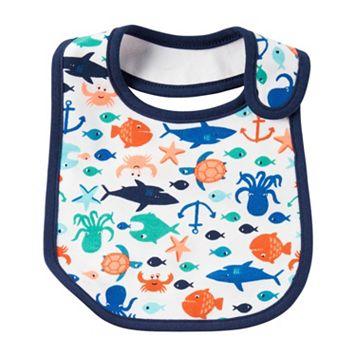 Baby Boy Carter's Ocean Print Bib