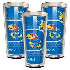 Kansas Jayhawks 3-Piece Shot Glass Set
