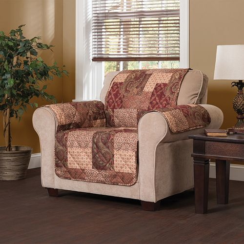 Paisley Patch Chair Slipcover