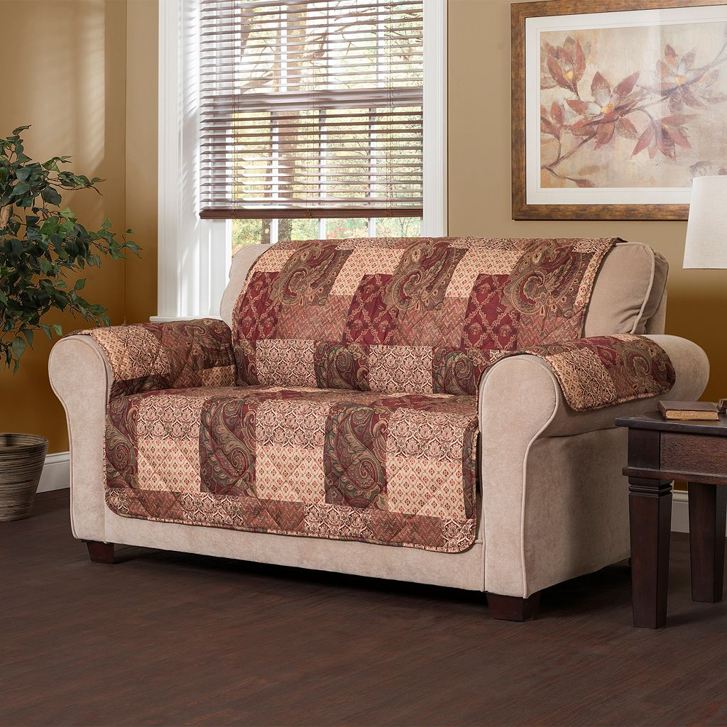 Paisley Patch Loveseat Slipcover