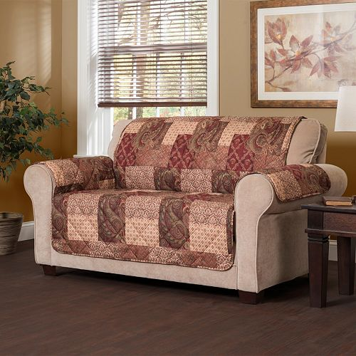 Jeffrey Home Paisley Patch Loveseat Slipcover