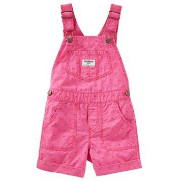 Baby Girl OshKosh B'gosh® Heart Cuffed Shortalls