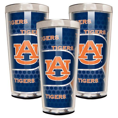 Auburn Tigers 3-Piece Shot Glass Set