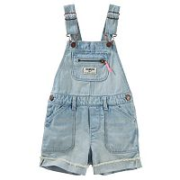 Baby Girl OshKosh B'gosh® Cuffed Denim Shortalls