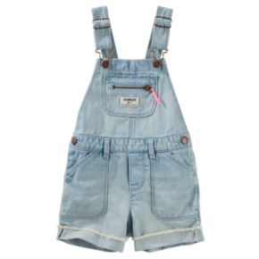 Baby Girl OshKosh B'gosh® Cuffed Denim Shortalls