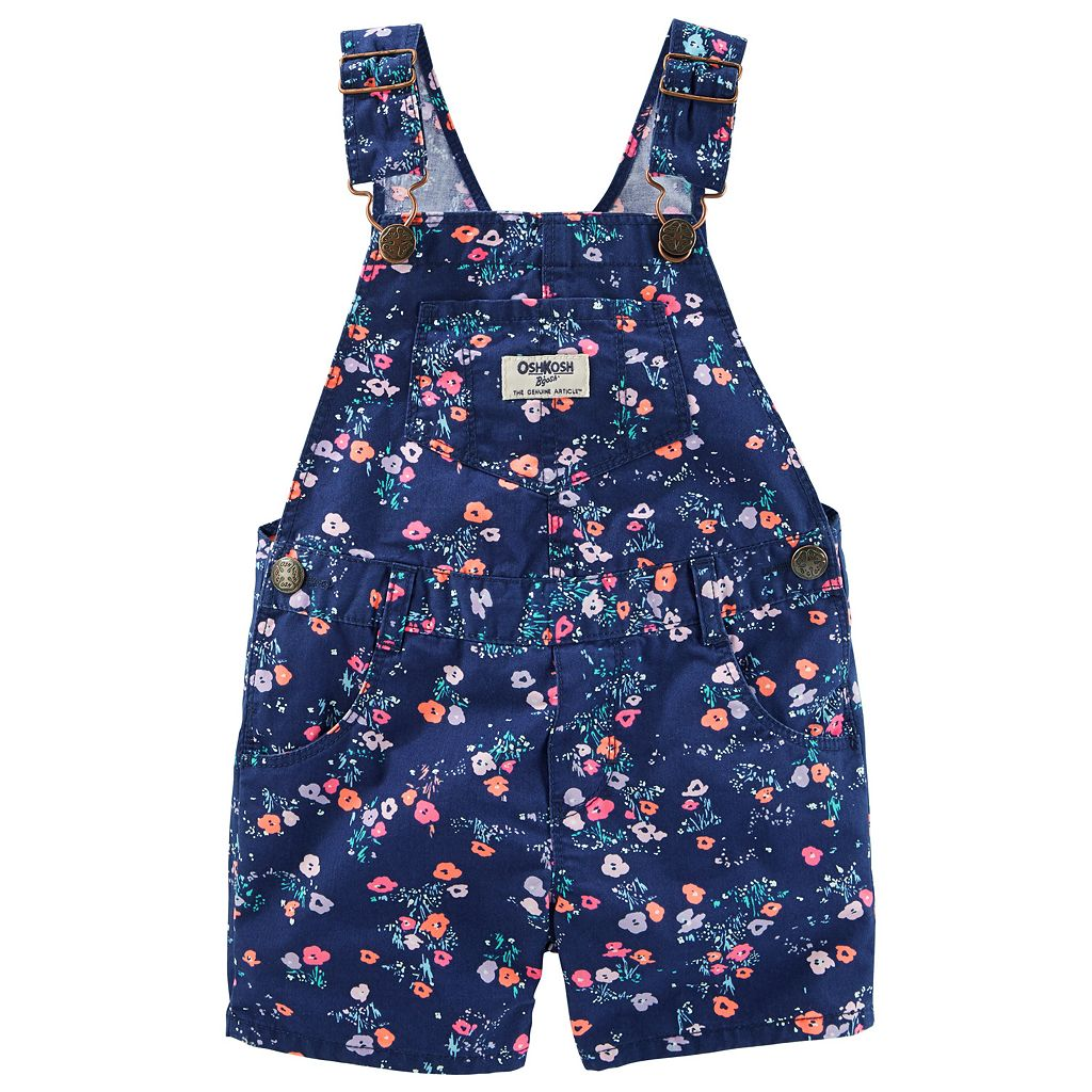 Baby Girl OshKosh B'gosh® Floral Twill Shortalls