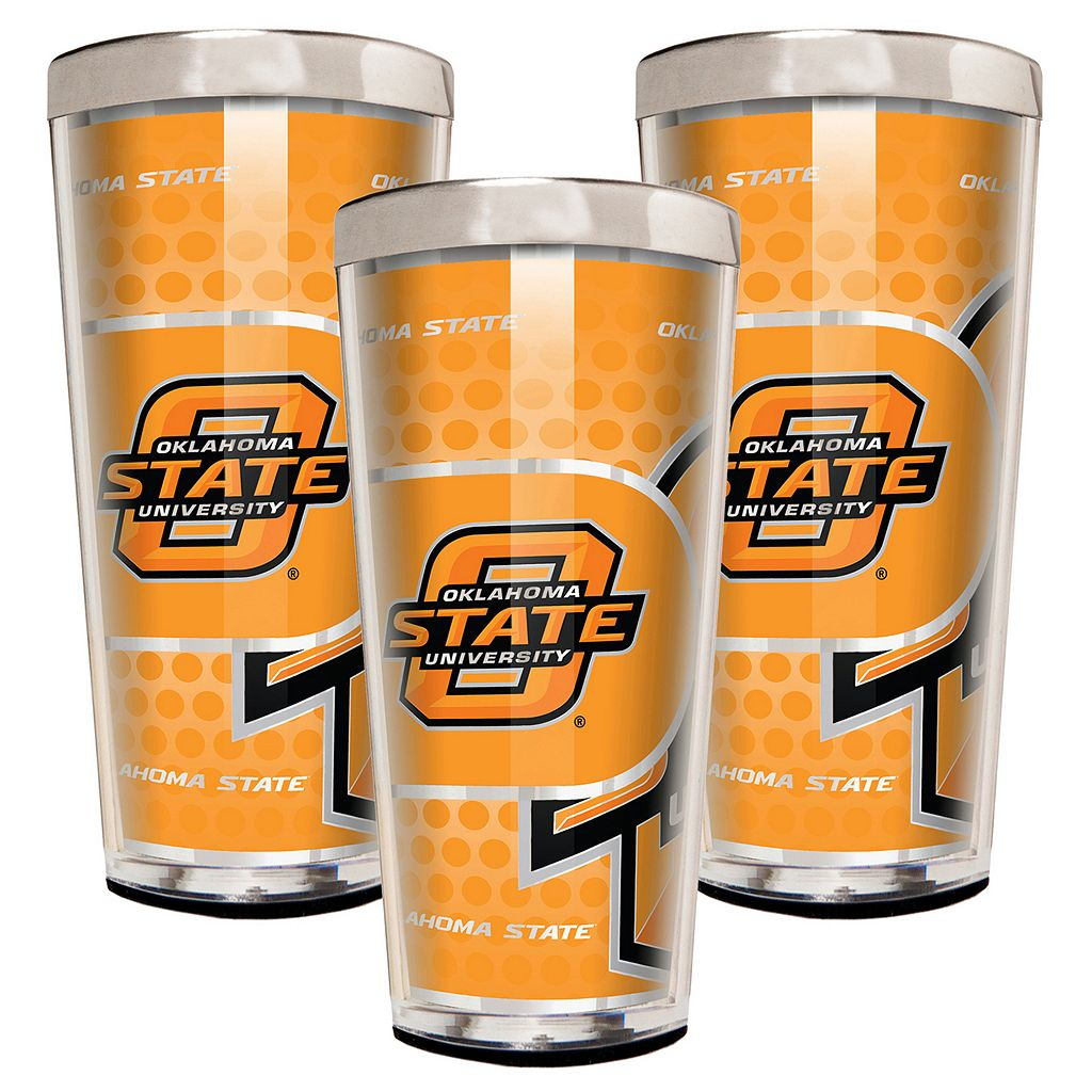 Oklahoma State Cowboys 3-Piece Shot Glass Set