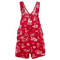 Baby Girl Carter's Bandana Cuffed Shortalls