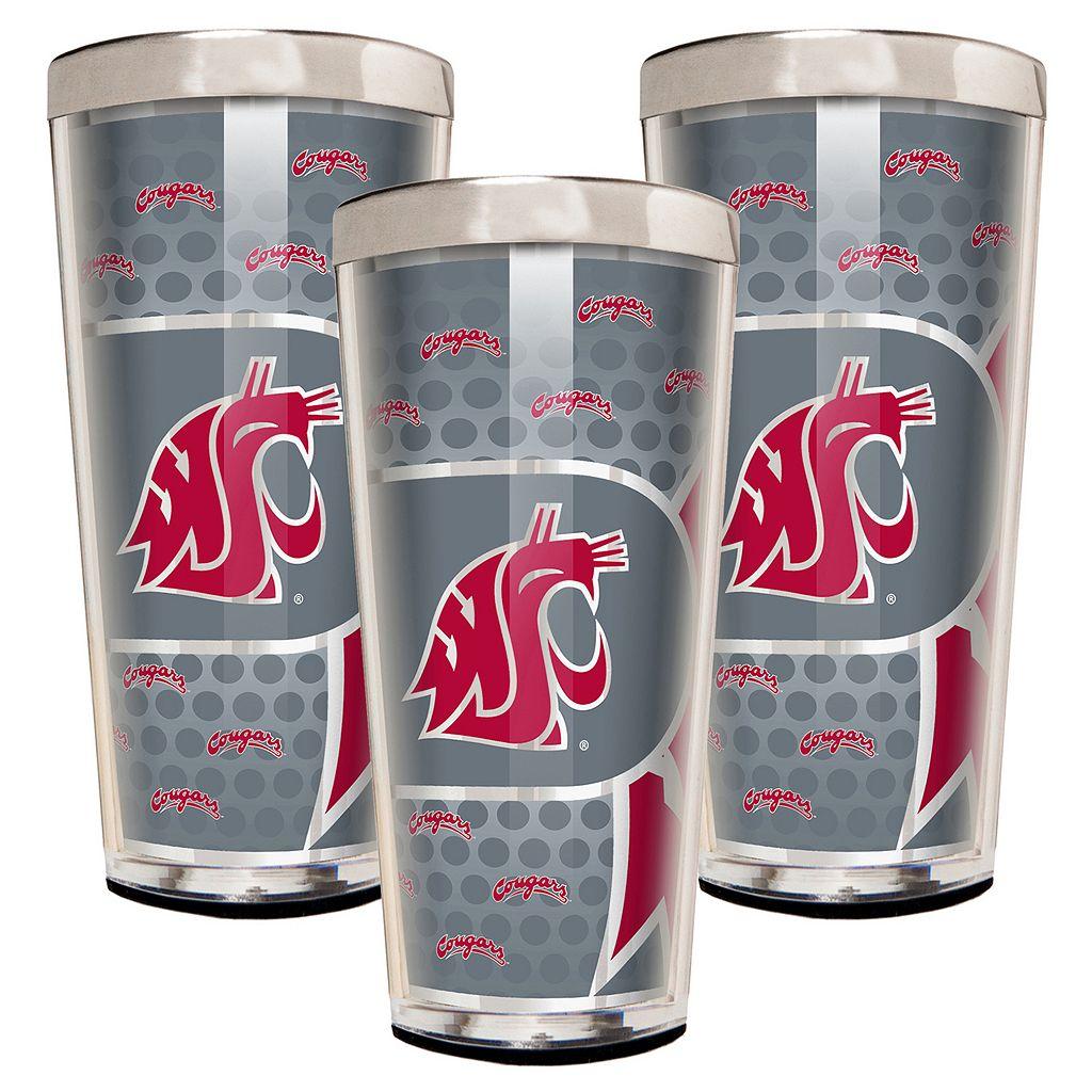 Washington State Cougars 3-Piece Shot Glass Set