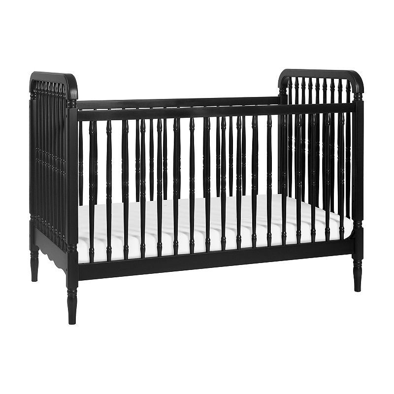 Million Dollar Baby Liberty 3-in-1 Convertible Crib with Toddler Bed Conversion Kit, Black
