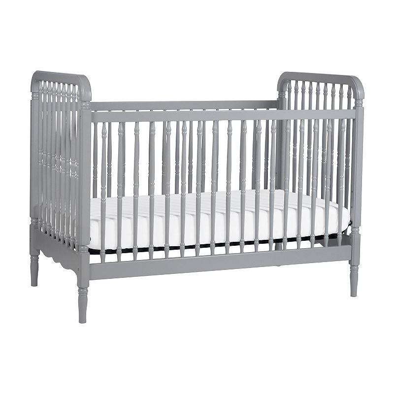 Million Dollar Baby Liberty 3-in-1 Convertible Crib with Toddler Bed Conversion Kit, Grey