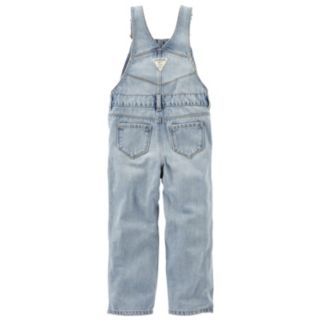 Baby Girl OshKosh B'gosh® Heart Applique Denim Overalls