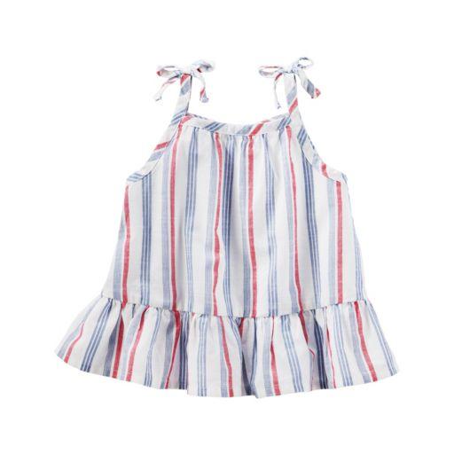 Baby Girl OshKosh B'gosh® Striped Drop-Waist Tank Top