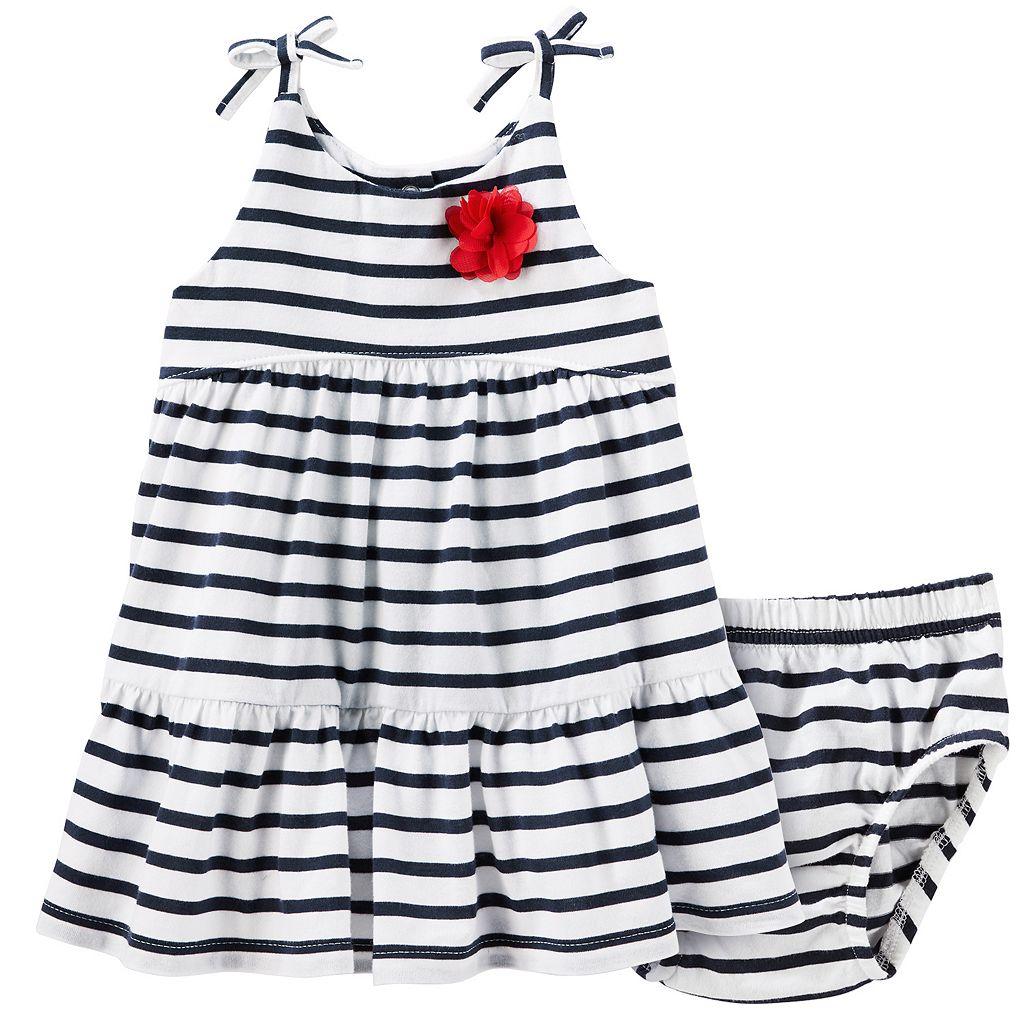 Baby Girl OshKosh B'gosh® Striped Tiered Dress