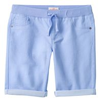 Girls 7-16 SO® Ribbed Waist Sateen Bermuda Shorts