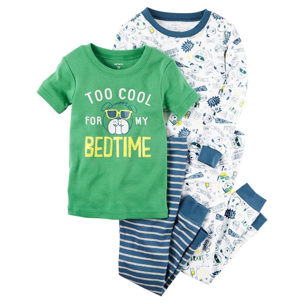 Baby Boy Carter's Doggy Graphic & Print 4-pc. Pajama Set